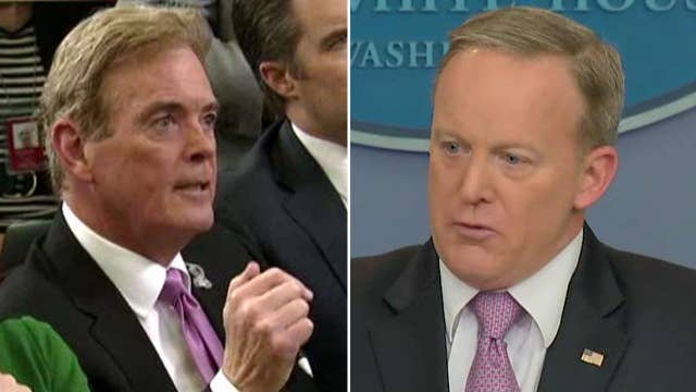 Spicer spars with reporters over Flynn role as foreign agent
