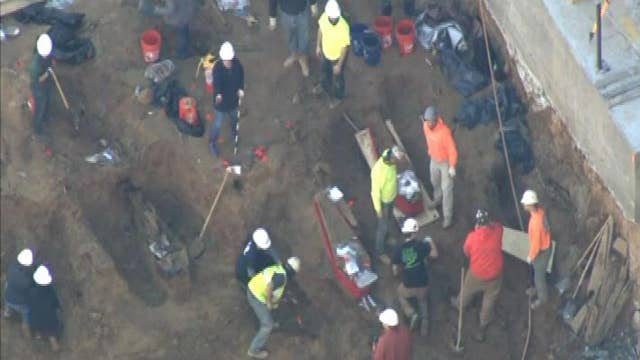 Construction workers dig up ancient remains in Philadelphia
