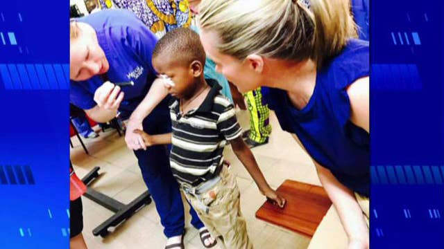 Dana joins Mercy Ships' humanitarian mission in Africa