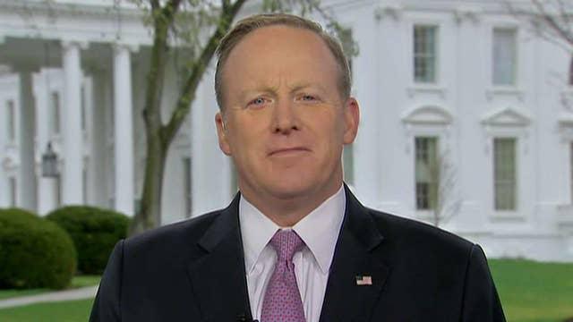 Sean Spicer talks 'clogging' intelligence leaks