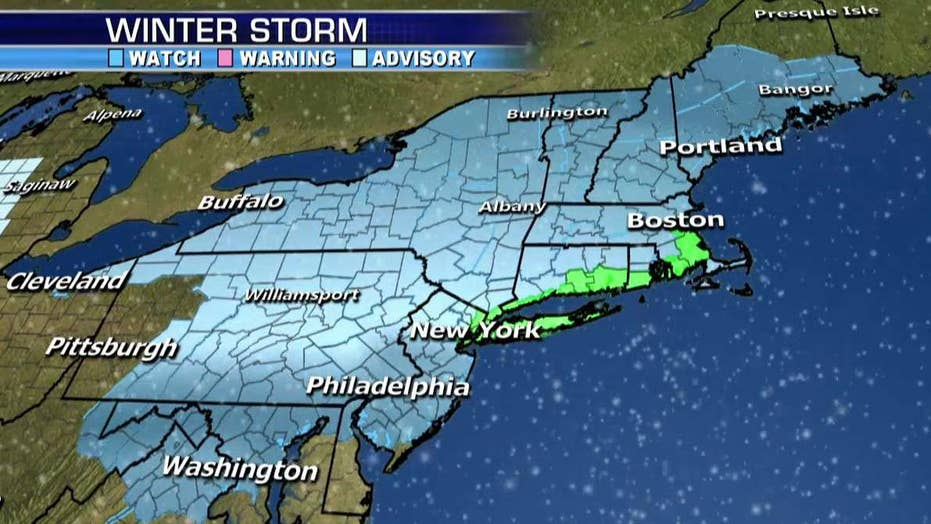 Winter storm watch in effect for northeast