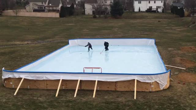Town tells family backyard ice rink must come down