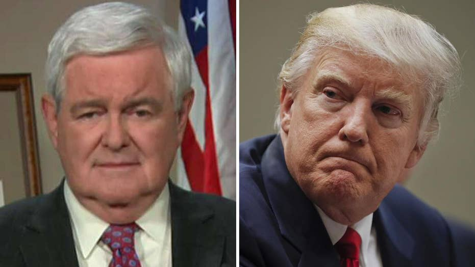 Gingrich: Media waging war against the Trump administration