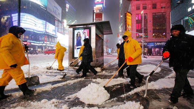 Winter storm closes New York schools, suspends some subways