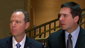House Intelligence Committee leaders hold news conference ahead of public hearing, want FBI to provide evidence on any wiretapping warrant