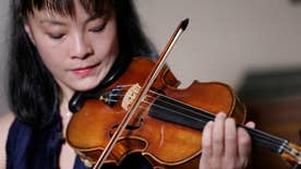 The daughters of renowned violinist Roman Totenberg heard the sound of their late father's Ames Stradivarius for the first time since it was stolen nearly four decades ago