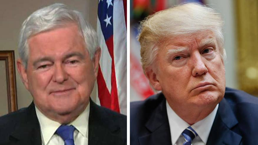 news newt gingrich says donald trump will focus popu