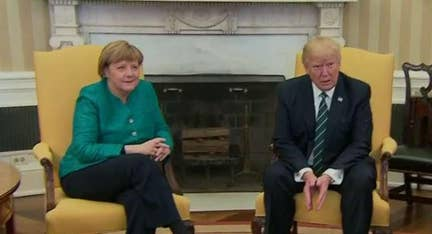 Trump presses Merkel 'hard' on NATO dues during visit