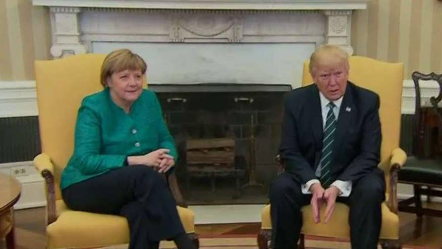 President welcomes German chancellor to the White House
