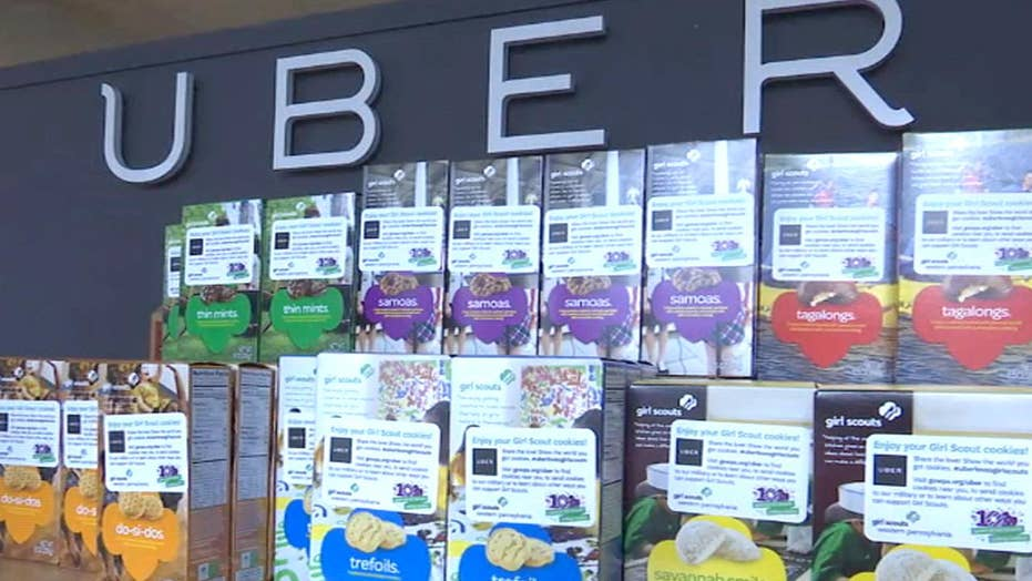 Uber delivers free Girl Scout cookies