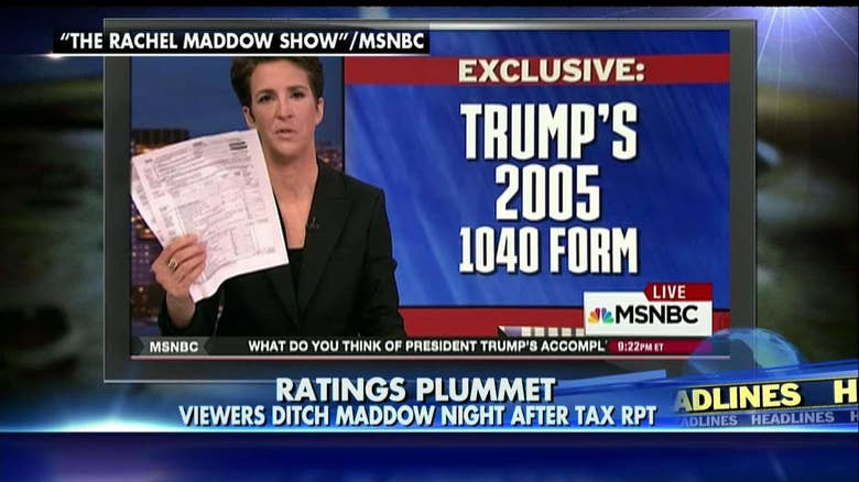 Maddow's Viewership Plummets After Trump Tax Reveal ...