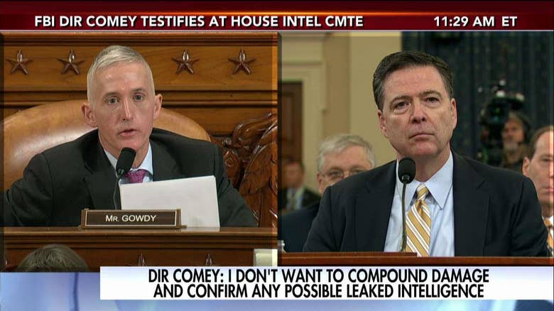Image result for gowdy & comey at wiretap hearing