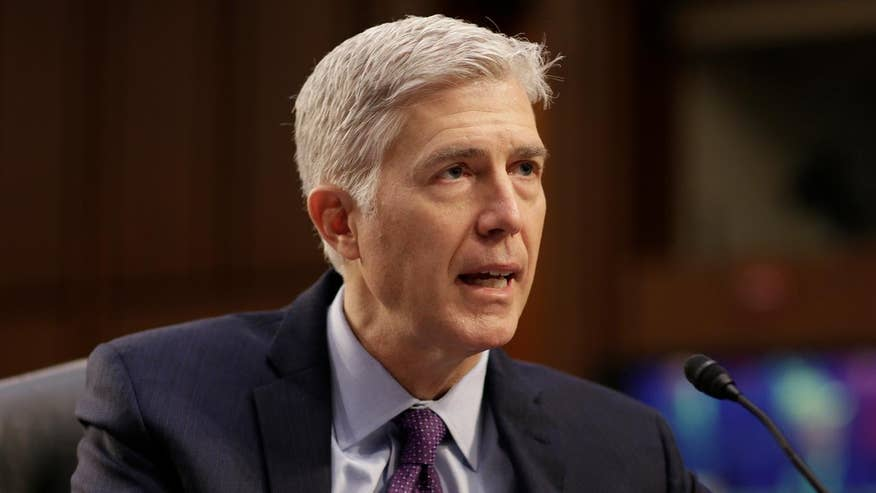President Trump's Supreme Court pick answers question from Sen. Cruz at Senate confirmation hearing