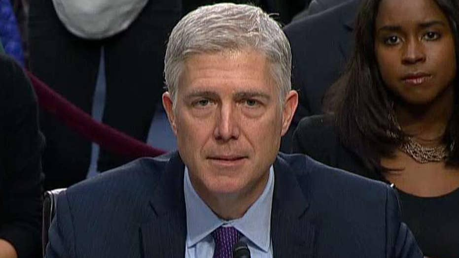 Gorsuch: I have no difficulty ruling for, against any party