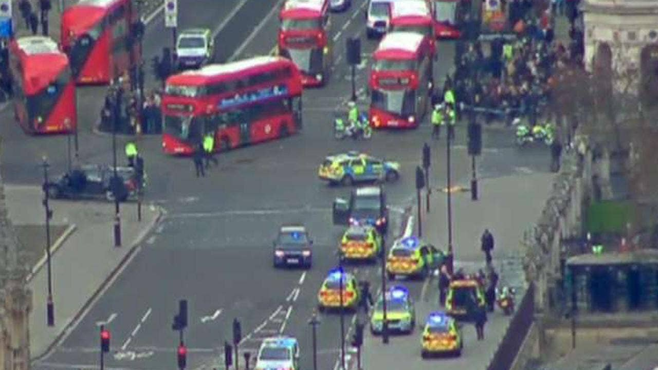 Shots fired at UK Parliament; officer stabbed and assailant shot, reports say