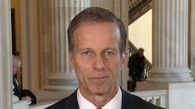 Sen. John Thune reacts to criticism from colleagues