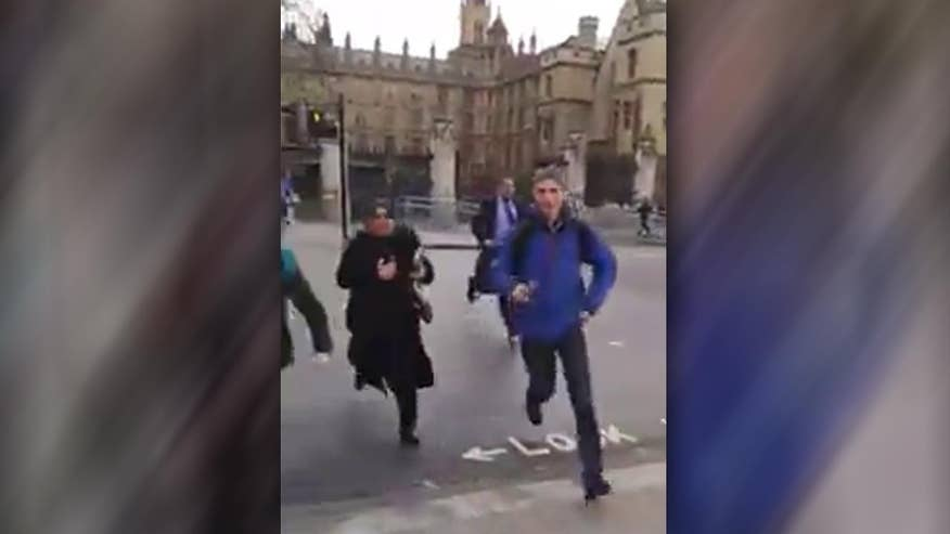 Raw video of terror attack outside British Parliament