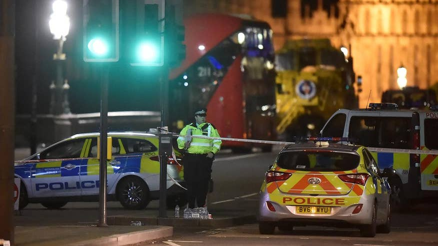 The attacker mowed people down along Westminster Bridge with a vehicle and attacked one policeman with a long knife before being shot dead; Benjamin Hall reports for 'Special Report'
