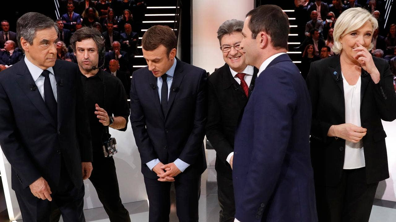 51c53abf4041 Judging from his Twitter feed, President Trump is keeping a close eye on  Sunday's French presidential election. With polls showing the top four, ...