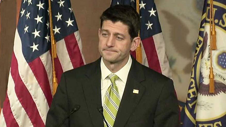 House Speaker holds news conference after Republican healthcare bill is pulled