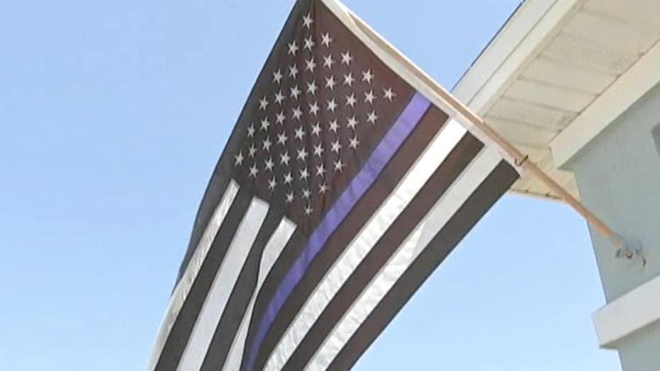 Blue Lives Matter flag forced down, deemed 'racist'