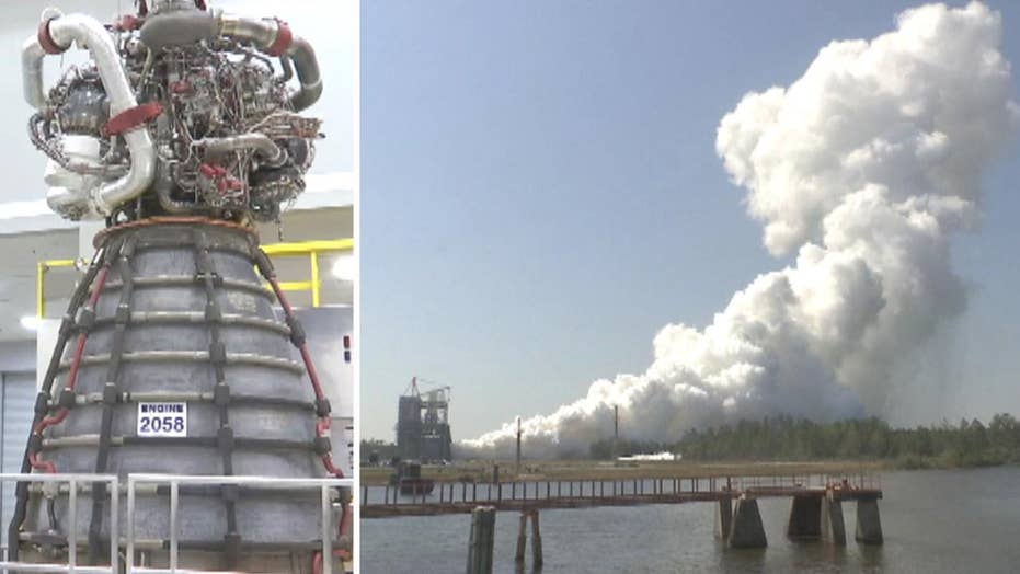 NASA test fires rocket engine for future Mars mission