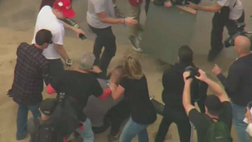 Arrests made after fights break out in Southern California Trump rally