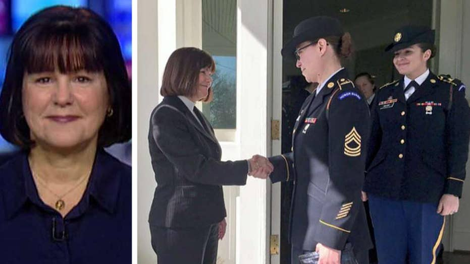 Second Lady Karen Pence honors military spouses