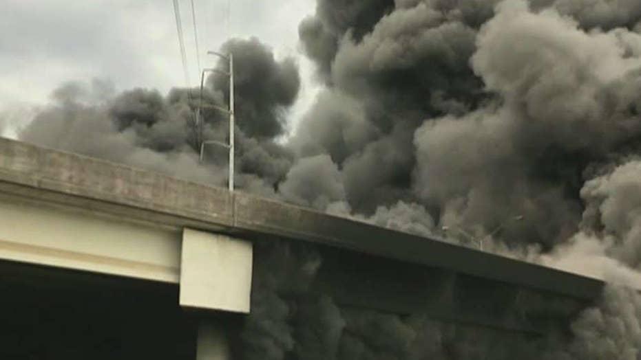 Massive fire collapses interstate in Atlanta