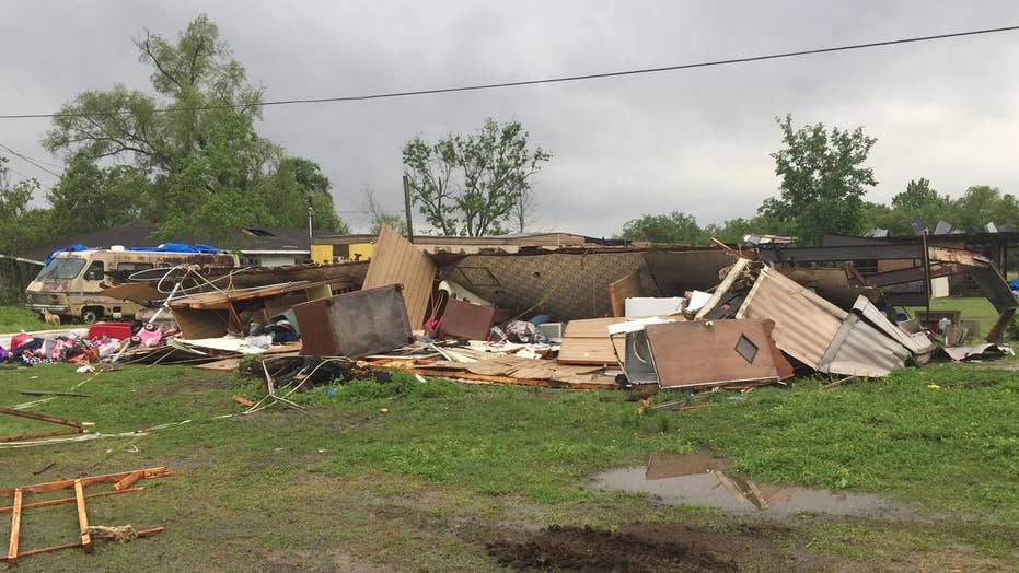 Tornado flips home, kills mother and 3-year-old daughter