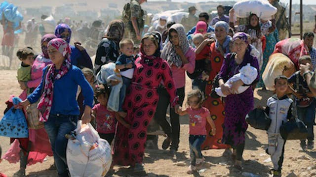 54 percent drop in refugees coming into the US