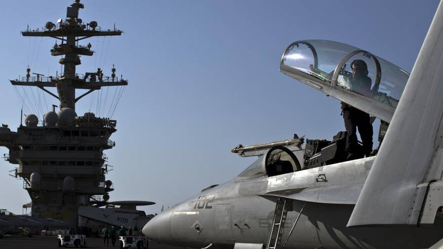 The pilots are protesting what they say is the top Navy brass's reluctance to address an urgent problem with their jets' oxygen system; Lucas Tomlinson has the story for 'Special Report'