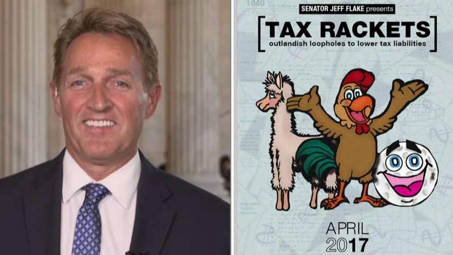 Sen. Jeff Flake shares his 'Tax Rackets' report