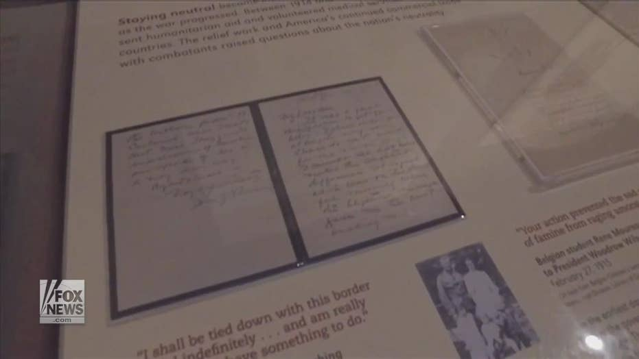 Rare letters from WWI Gen John Pershing on display