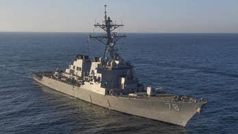 Russian frigate in the eastern Mediterranean