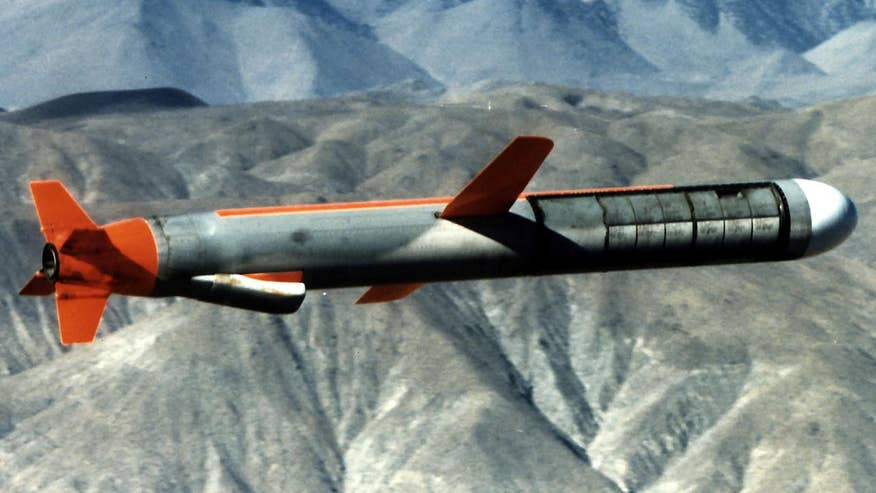 The subsonic, jet-powered missiles are low-flying and cruise at a speed around 550 mph