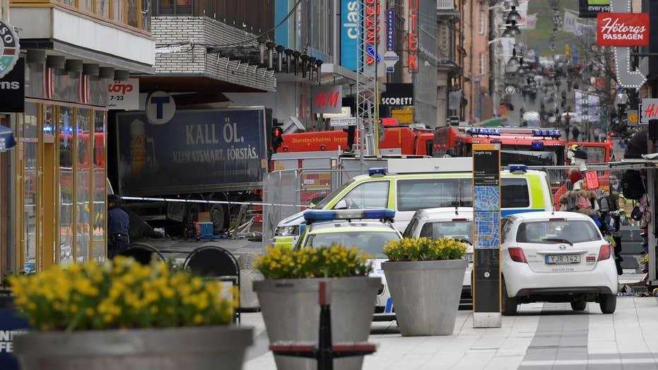 Homeland Security monitoring truck crash in Sweden crowd