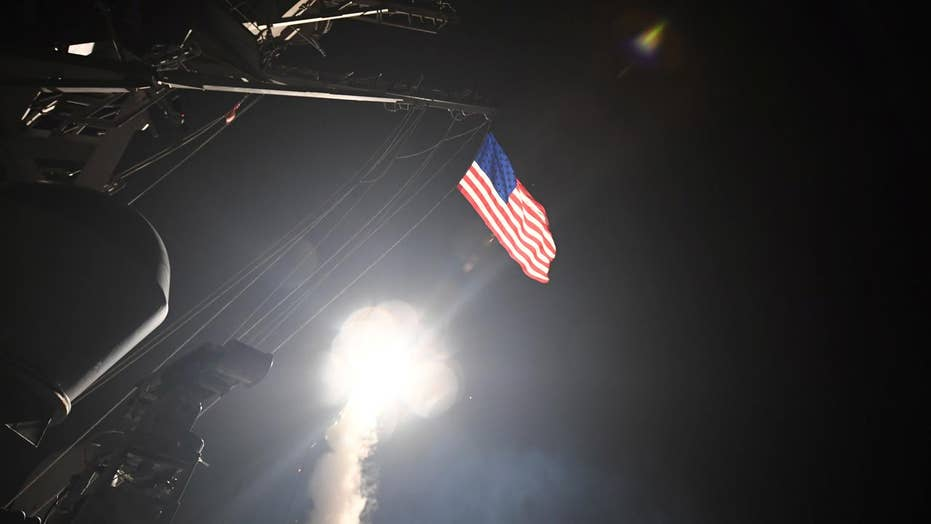US cruise missiles pound Syrian airbase