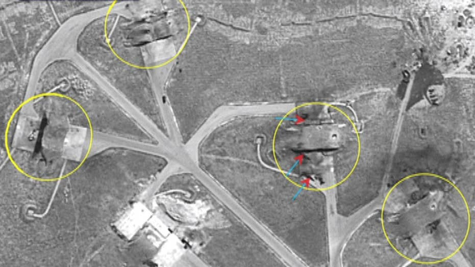 Destruction from US strike on Syria seen on satellite images