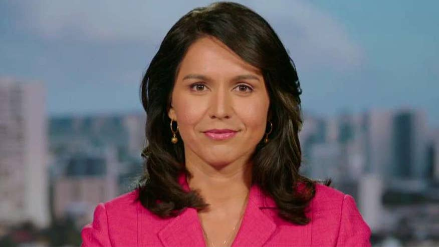 Rep. Tulsi Gabbard sparked criticism a few months ago for meeting with Syria leader Assad and now tells Tucker why she believes Trump's airstrikes on Syria were illegal, 'counterproductive' and 'reckless' #Tucker