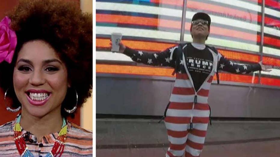 Joy Villa wears pro-Trump gear around New York City