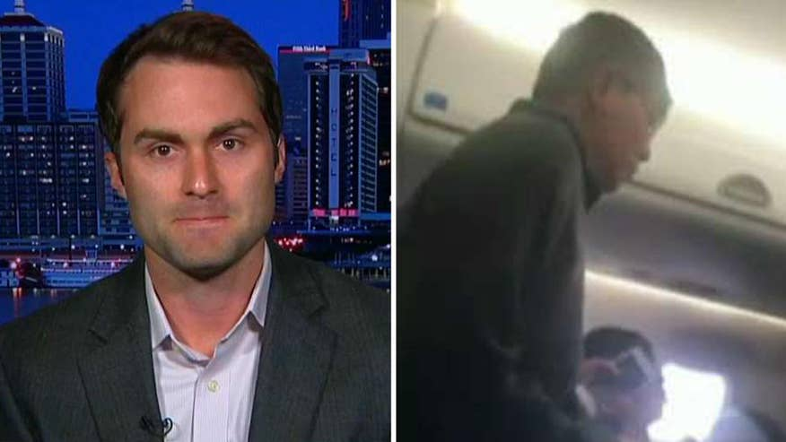 Controversial video of passenger being dragged off overbooked United Airlines plane has gone viral. Tyler Bridges, who shot the video, details the events leading up to the incident #Tucker