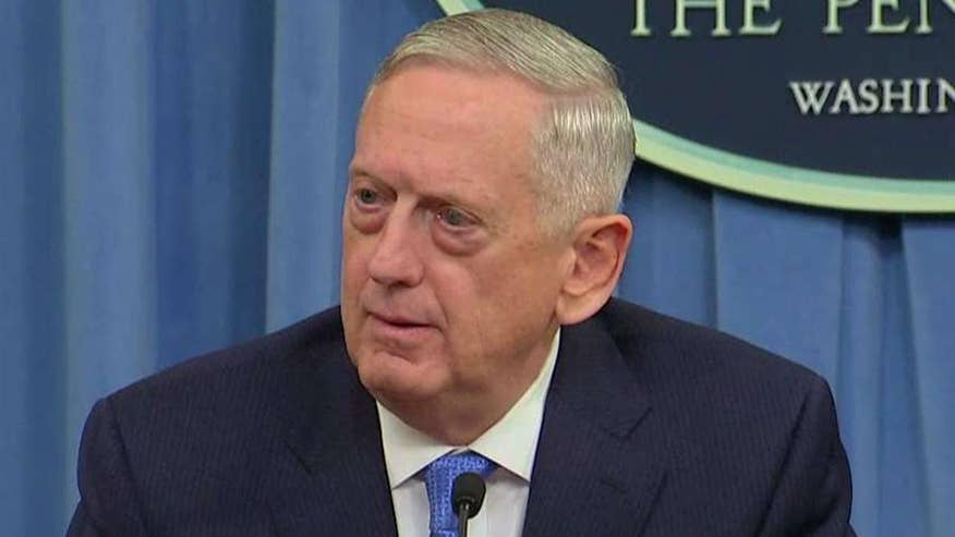 Defense secretary holds briefing on U.S. missile strike in Syria