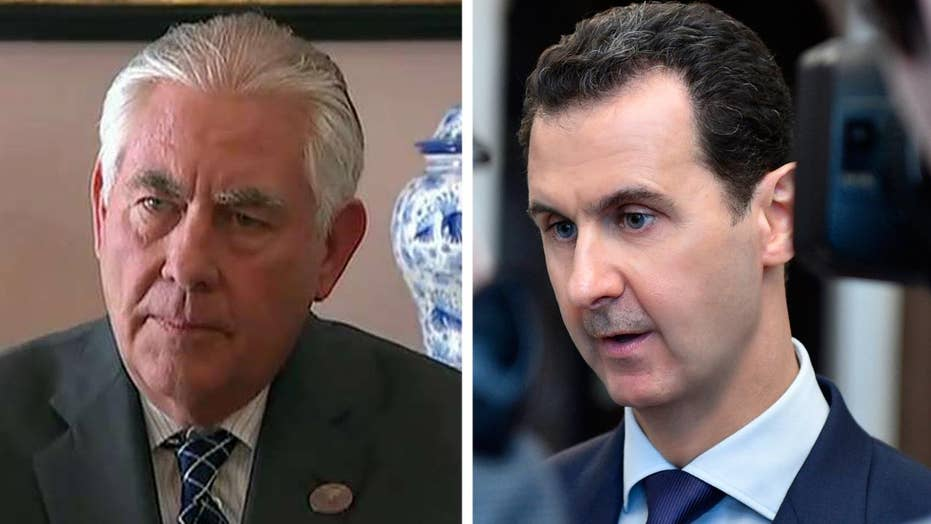 Tillerson: Reign of Assad family is ending