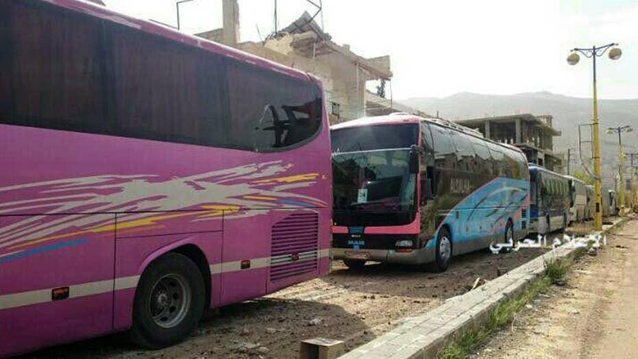 Civilian evacuations begin across Syria