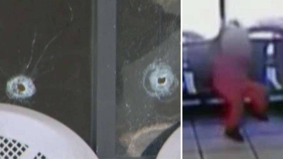 Little girl narrowly misses gunfire at barber shop