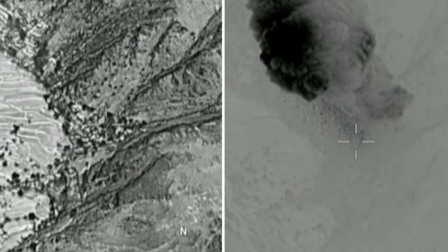 Raw video: U.S. military drops largest non-nuclear bomb on ISIS cave in Afghanistan