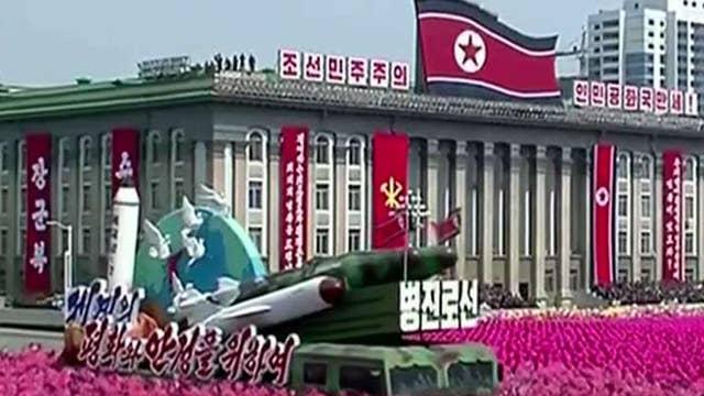 North Korea displays ballistic missiles at parade