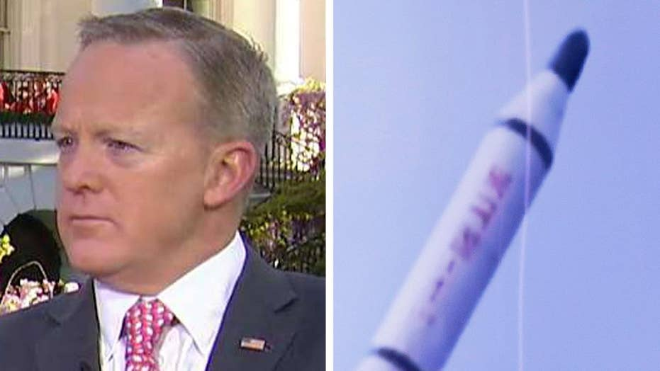 Spicer: Failed North Korea missile launch good for the world