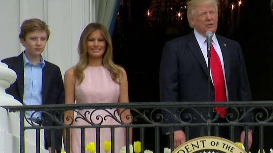 President, first lady address crowd at WH Easter Egg Roll
